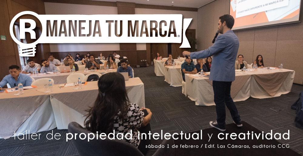 imagen de taller Maneja tu marca con Nuno Acosta y Gabriela Campoverde hablando de propiedad intelectual y creatividad para emprendedores